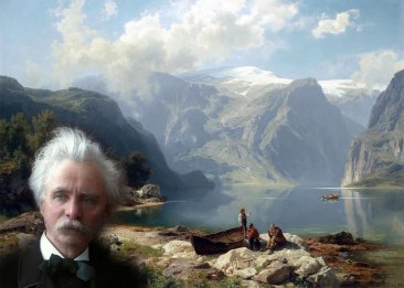 Sonniger-Tag-an-einem-norwegischen-(A.W.Leu)-and-Grieg-1s